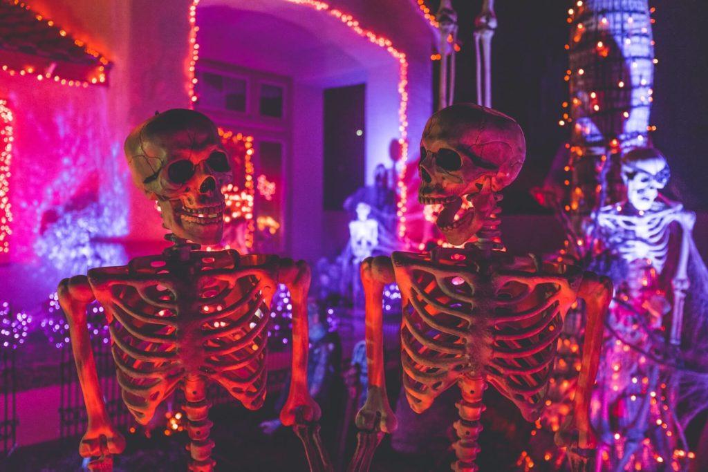décoration halloween squelette